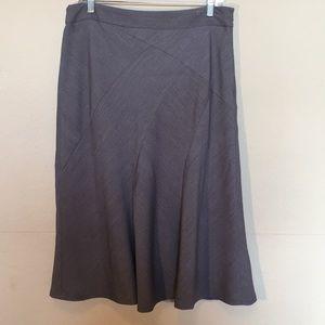 Rafaella gray lined midi trumpet skirt sz 12
